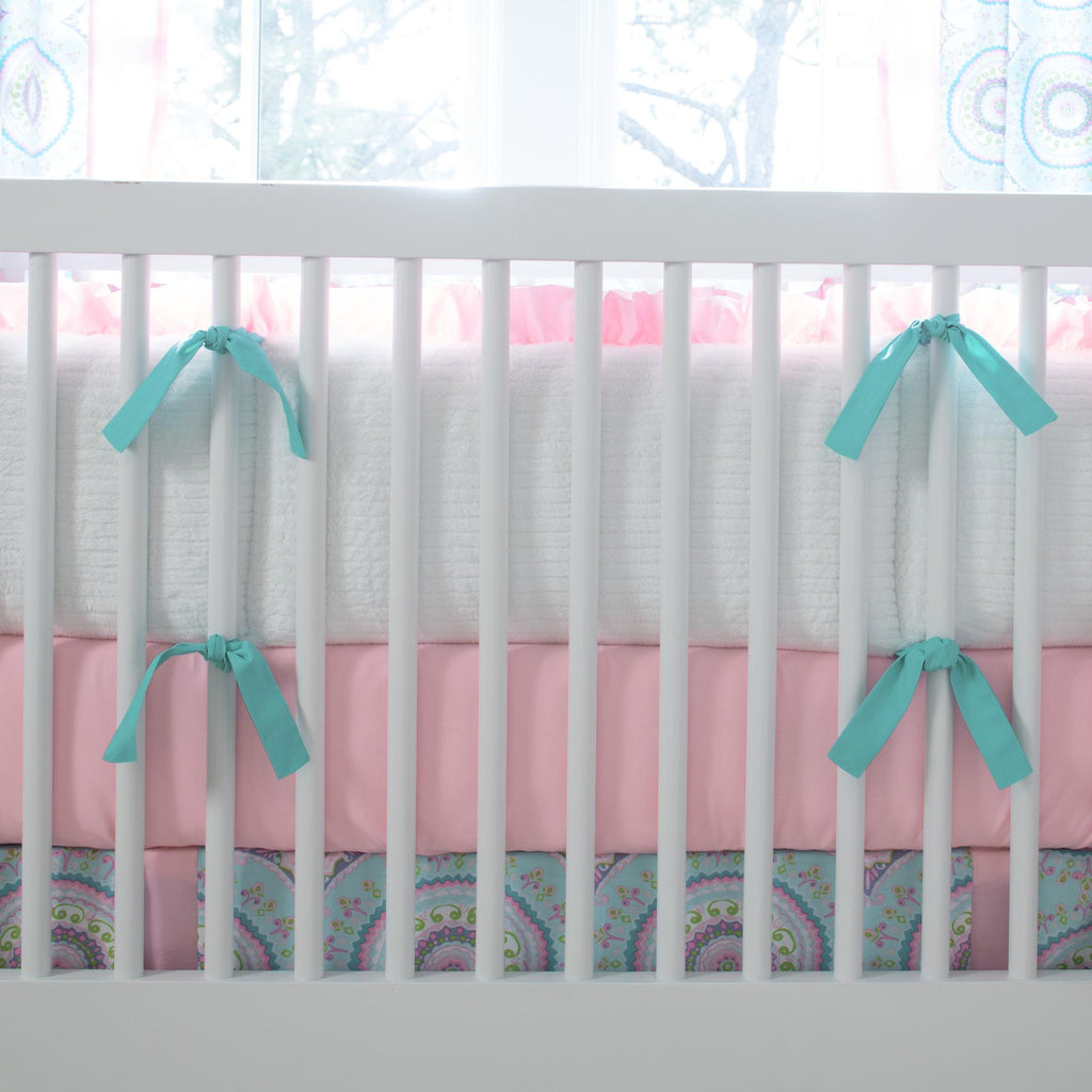 Product image for Aqua Haute Circles Crib Bumper