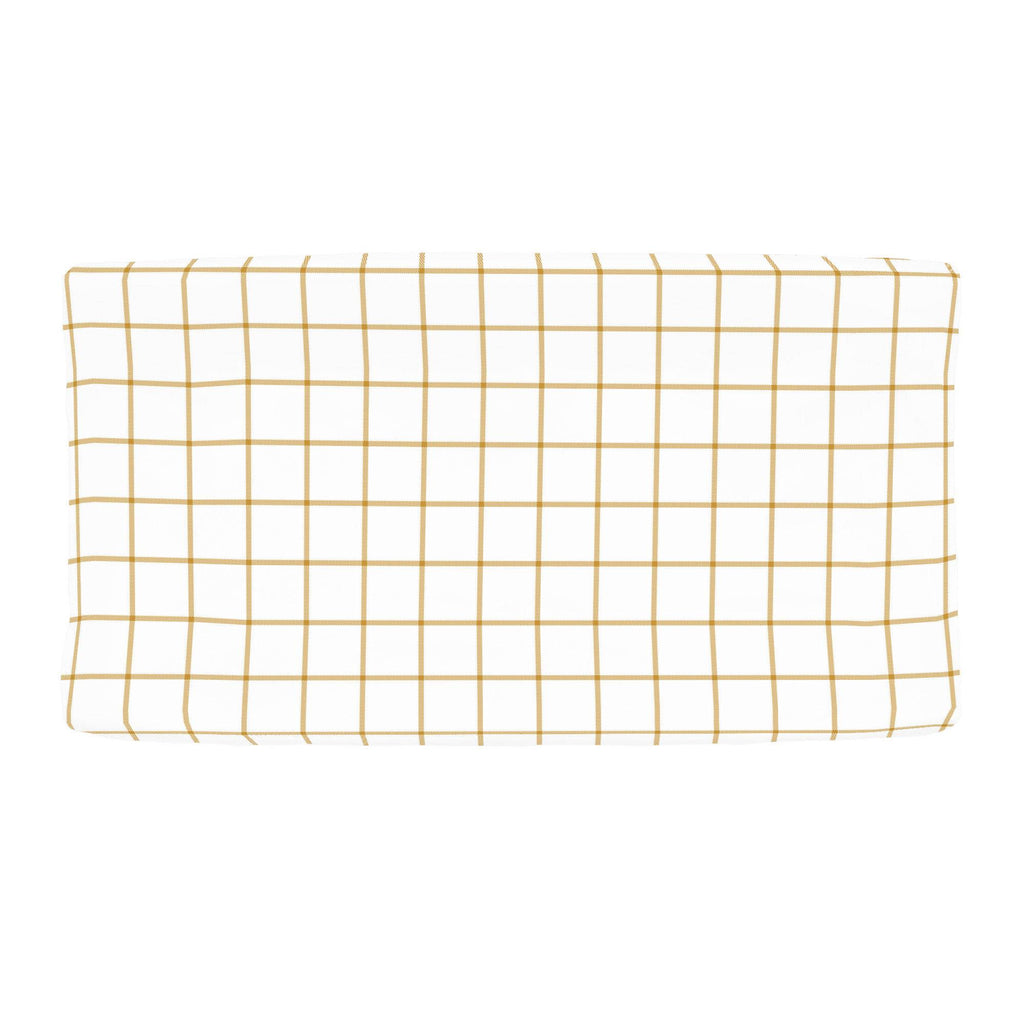 Product image for Mustard Windowpane Changing Pad Cover