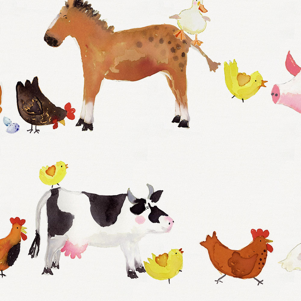 Product image for Painted Farm Animals Drape Panel