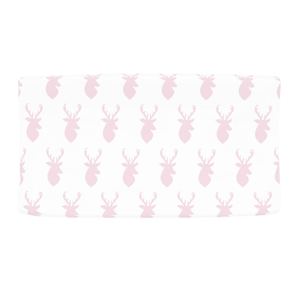 Product image for Pink Deer Head Changing Pad Cover