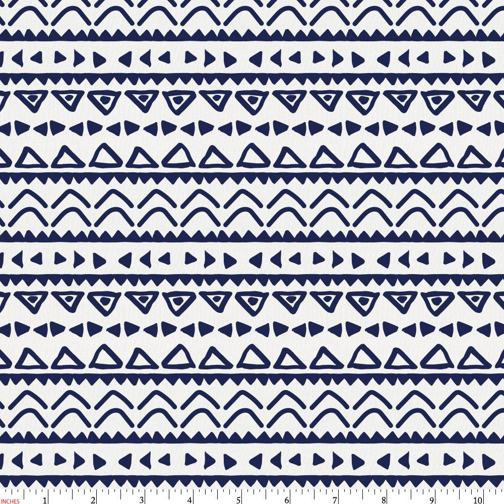 Product image for Windsor Navy Baby Aztec Fabric