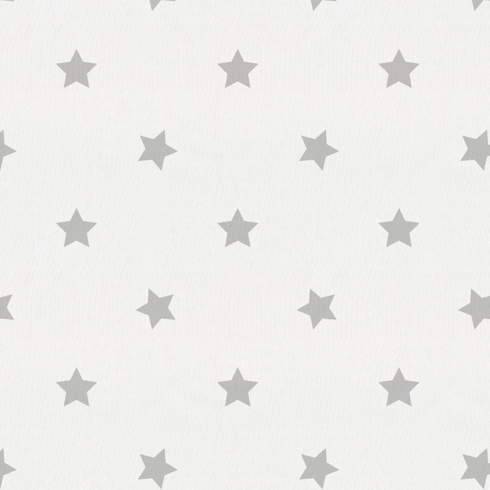 Product image for Silver Gray Stars Pillow Sham