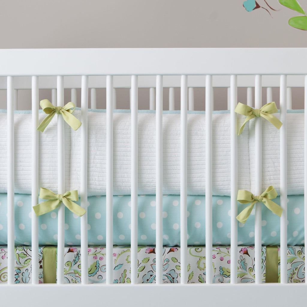 Product image for Love Bird Damask Crib Bumper