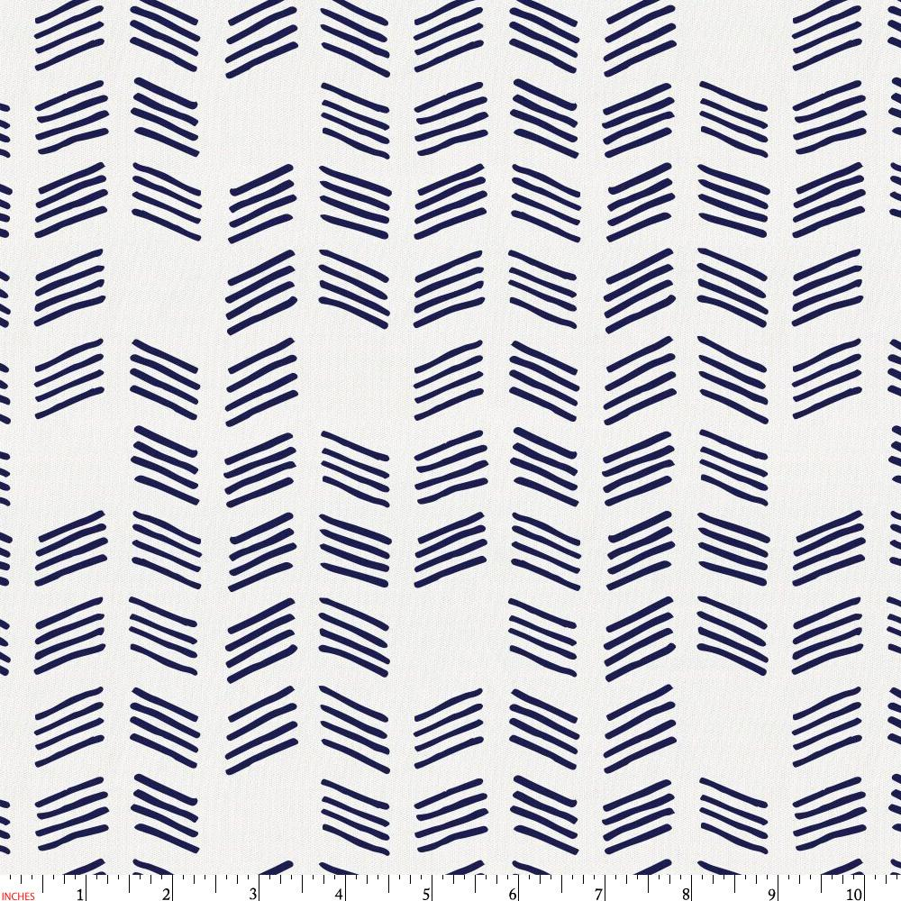 Product image for Windsor Navy Tribal Herringbone Fabric