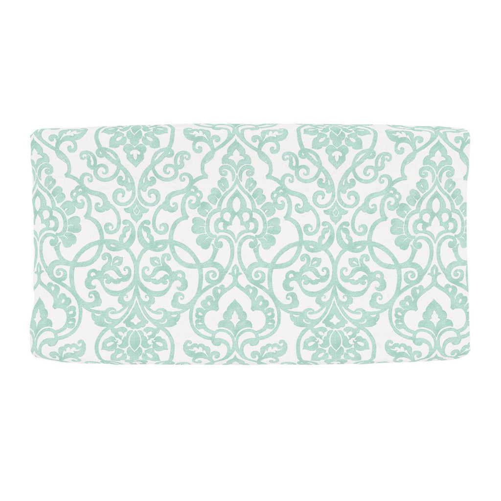 Product image for Mint Filigree Changing Pad Cover