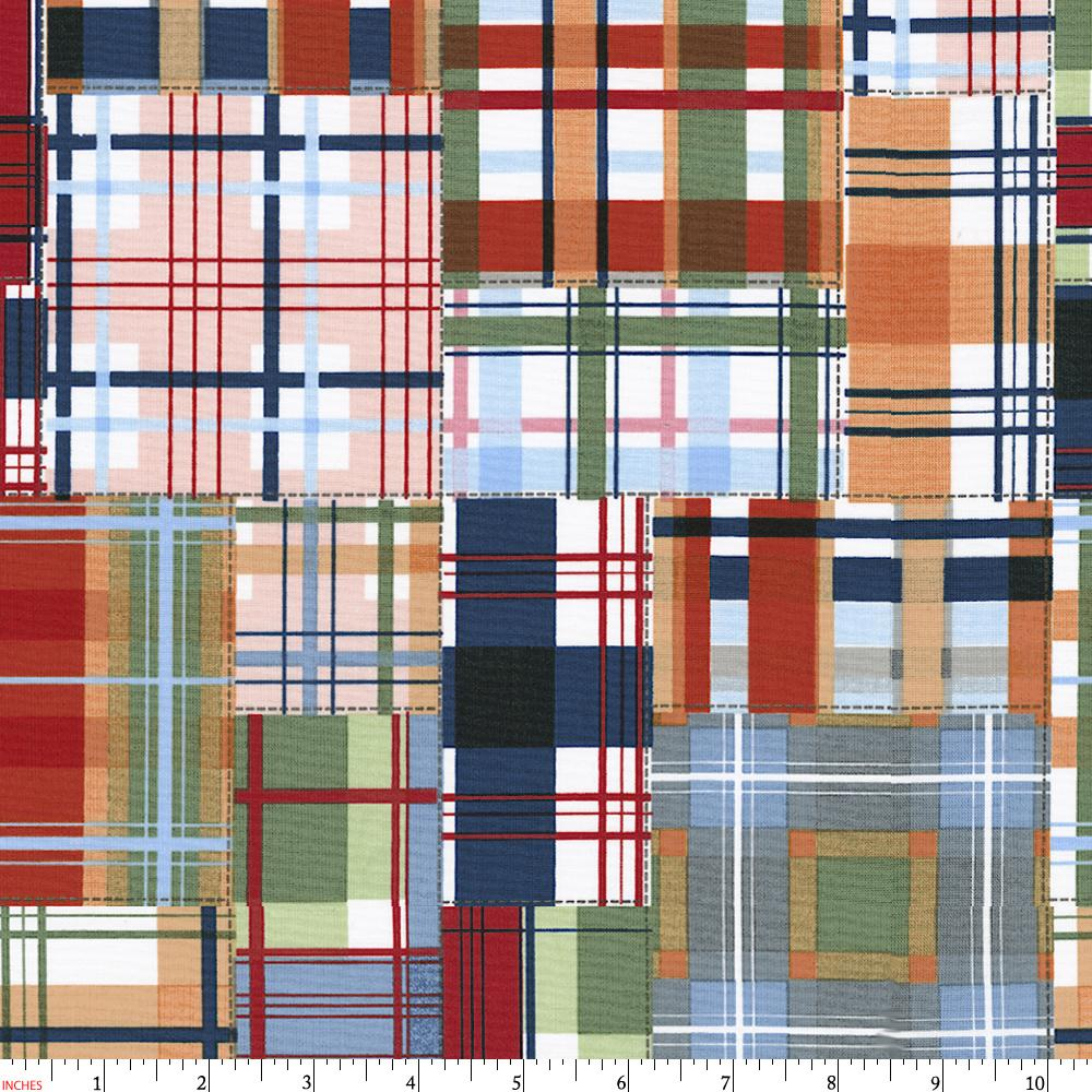 Product image for Patchwork Plaid Fabric