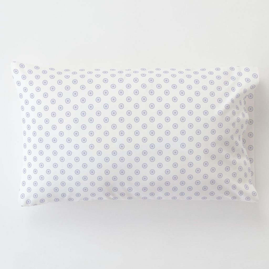 Product image for Lilac Tiny Medallion Toddler Pillow Case