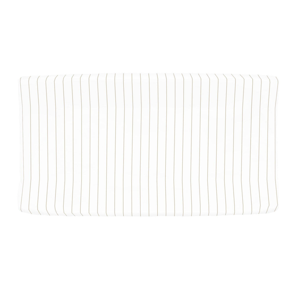 Product image for Taupe Pinstripe Changing Pad Cover