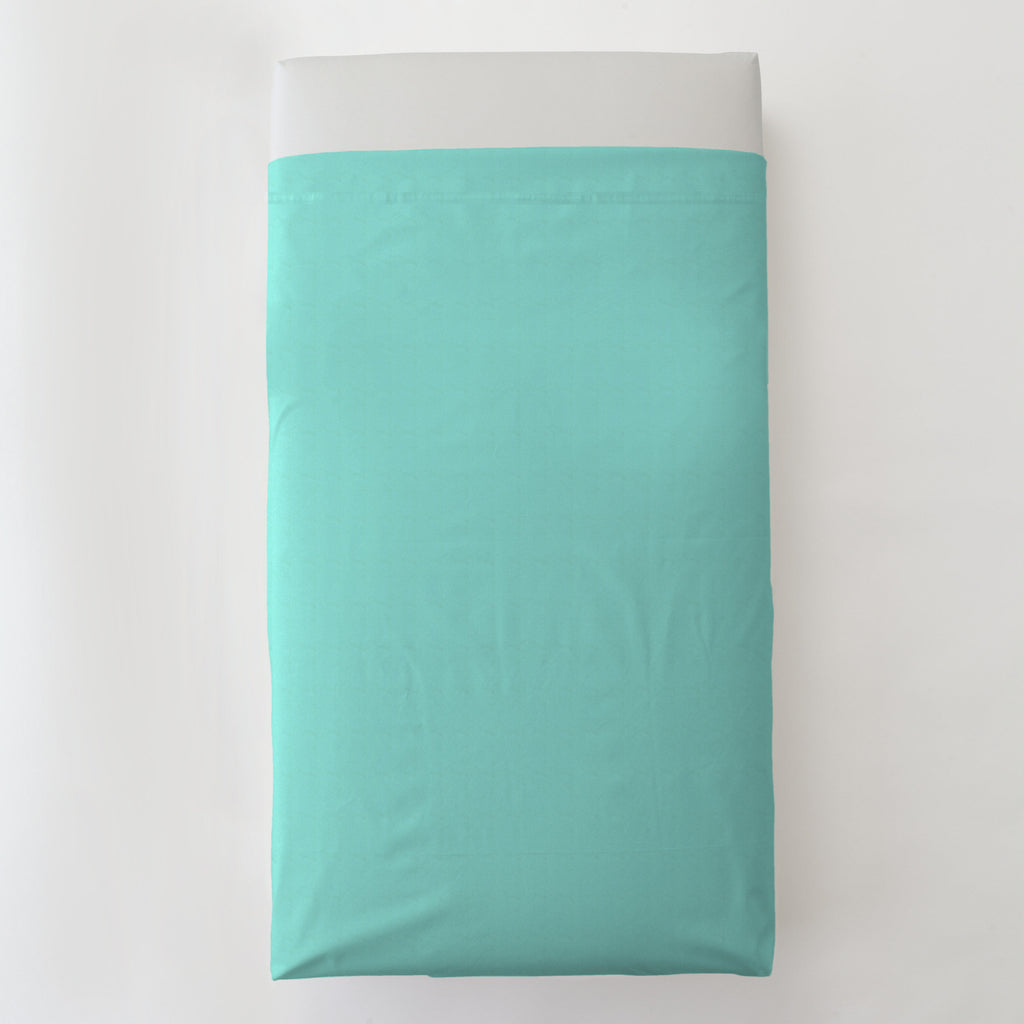 Product image for Solid Teal Toddler Sheet Top Flat
