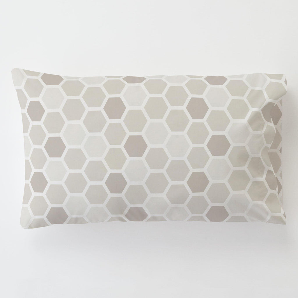 Product image for Taupe Honeycomb Toddler Pillow Case