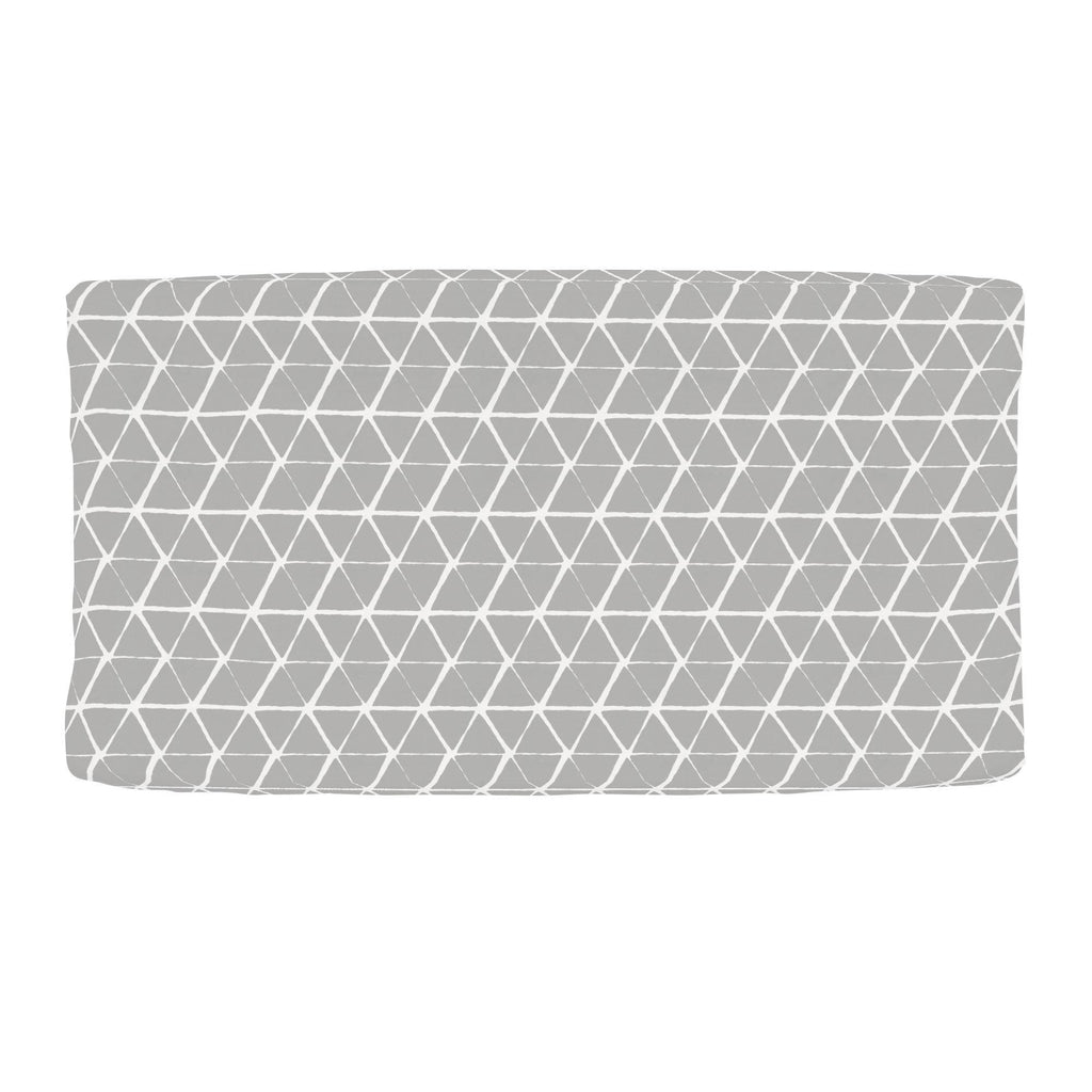 Product image for Gray Aztec Triangles Changing Pad Cover