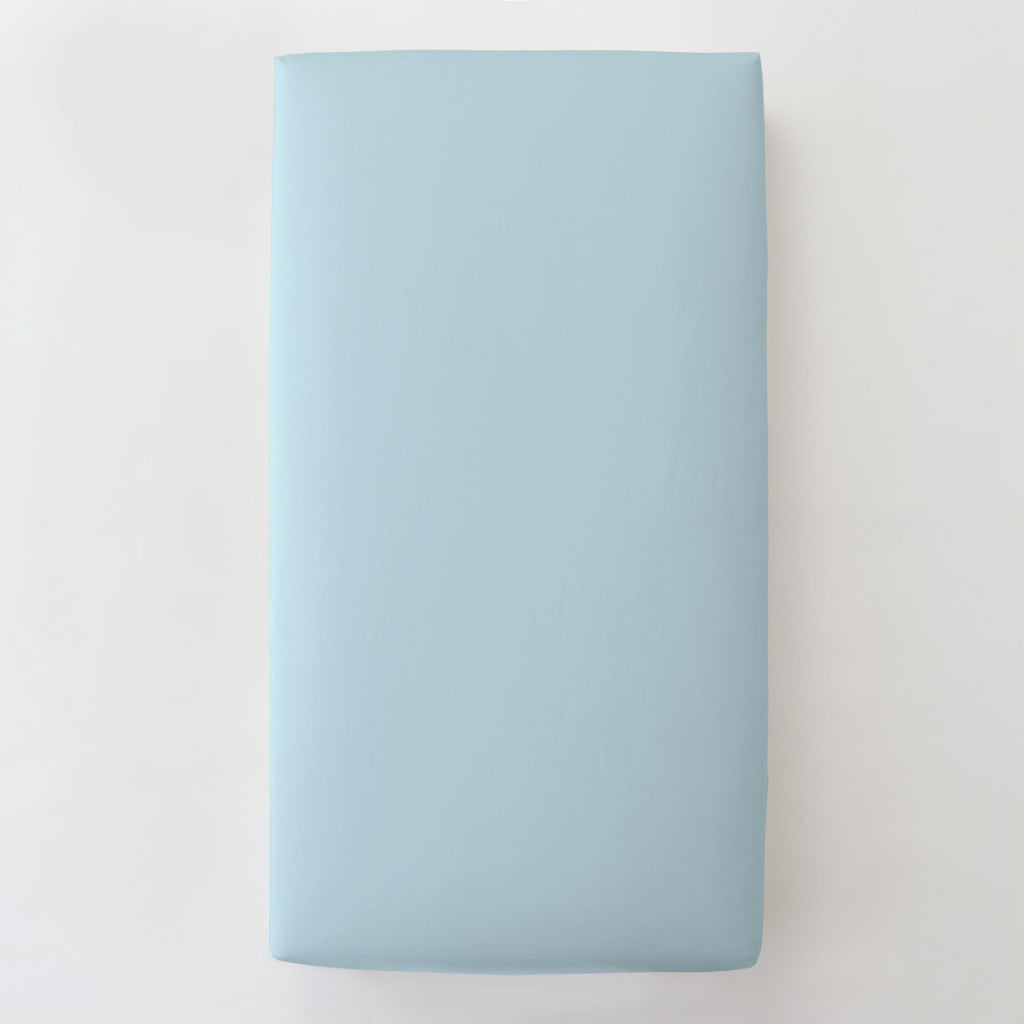 Product image for Solid Lake Blue Toddler Sheet Bottom Fitted