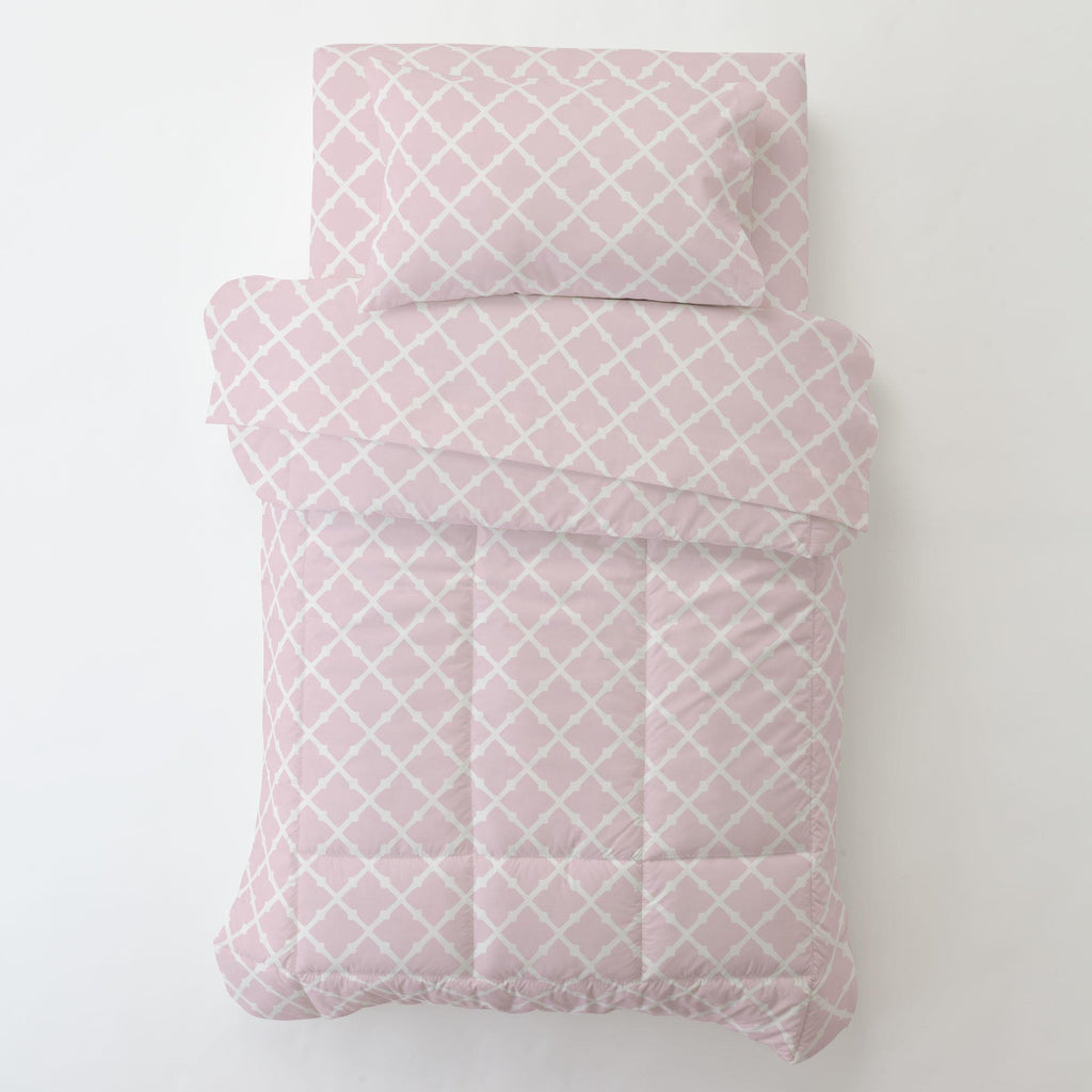Product image for Pink Lattice Toddler Comforter