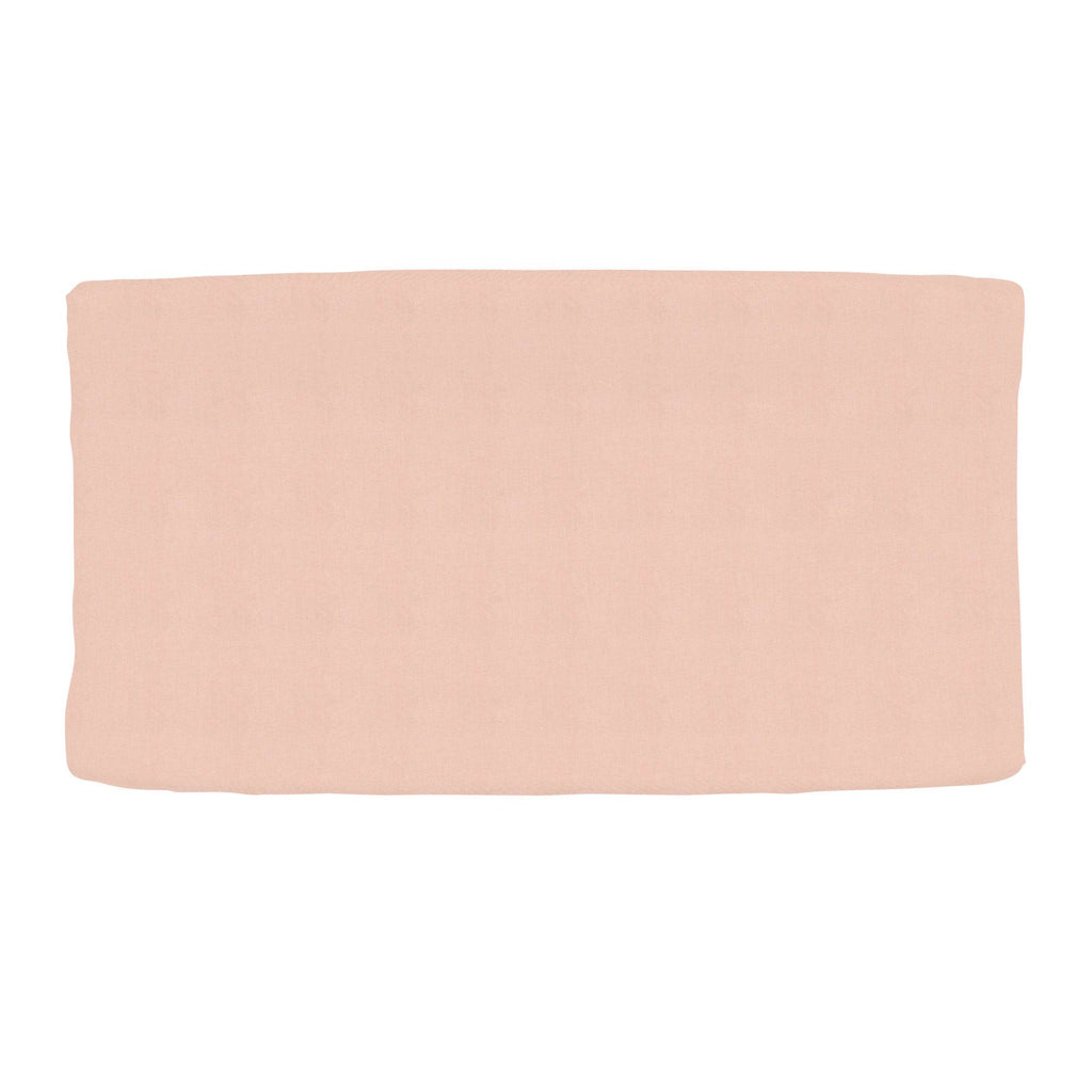 Product image for Solid Peach Changing Pad Cover