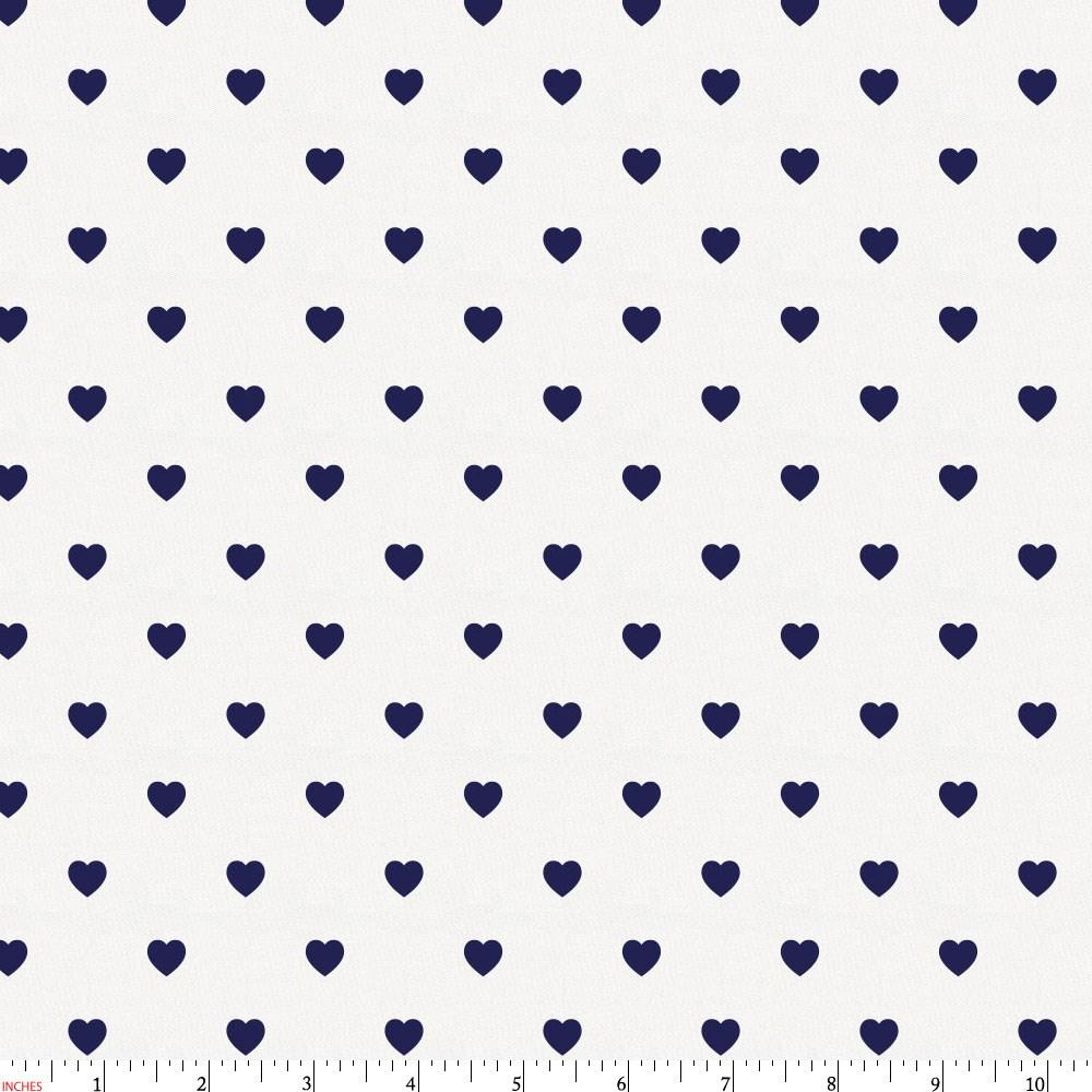Product image for Windsor Navy Hearts Fabric