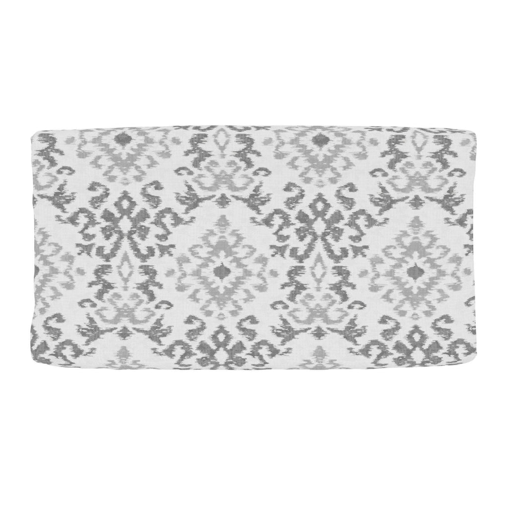Product image for Gray Ikat Damask Changing Pad Cover