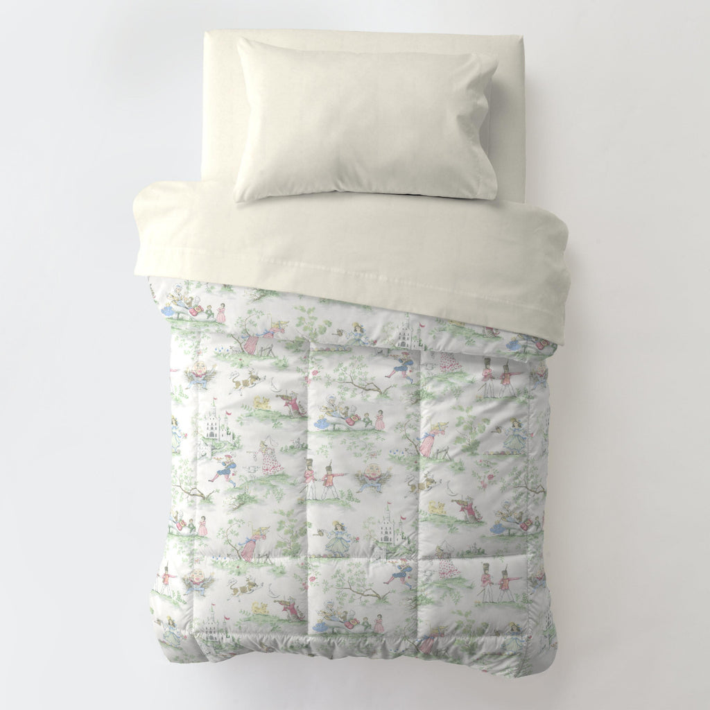 Product image for Nursery Rhyme Toile Toddler Comforter