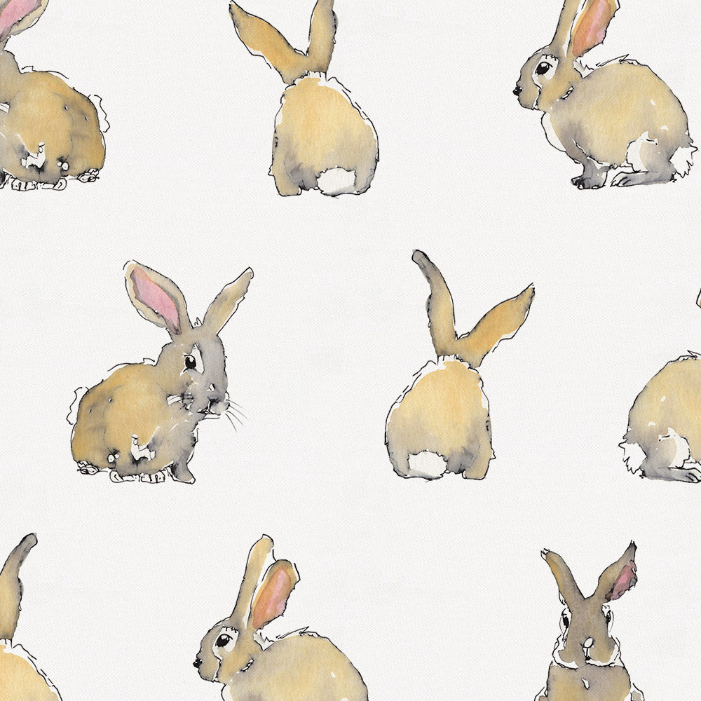 Product image for Watercolor Rabbits Drape Panel