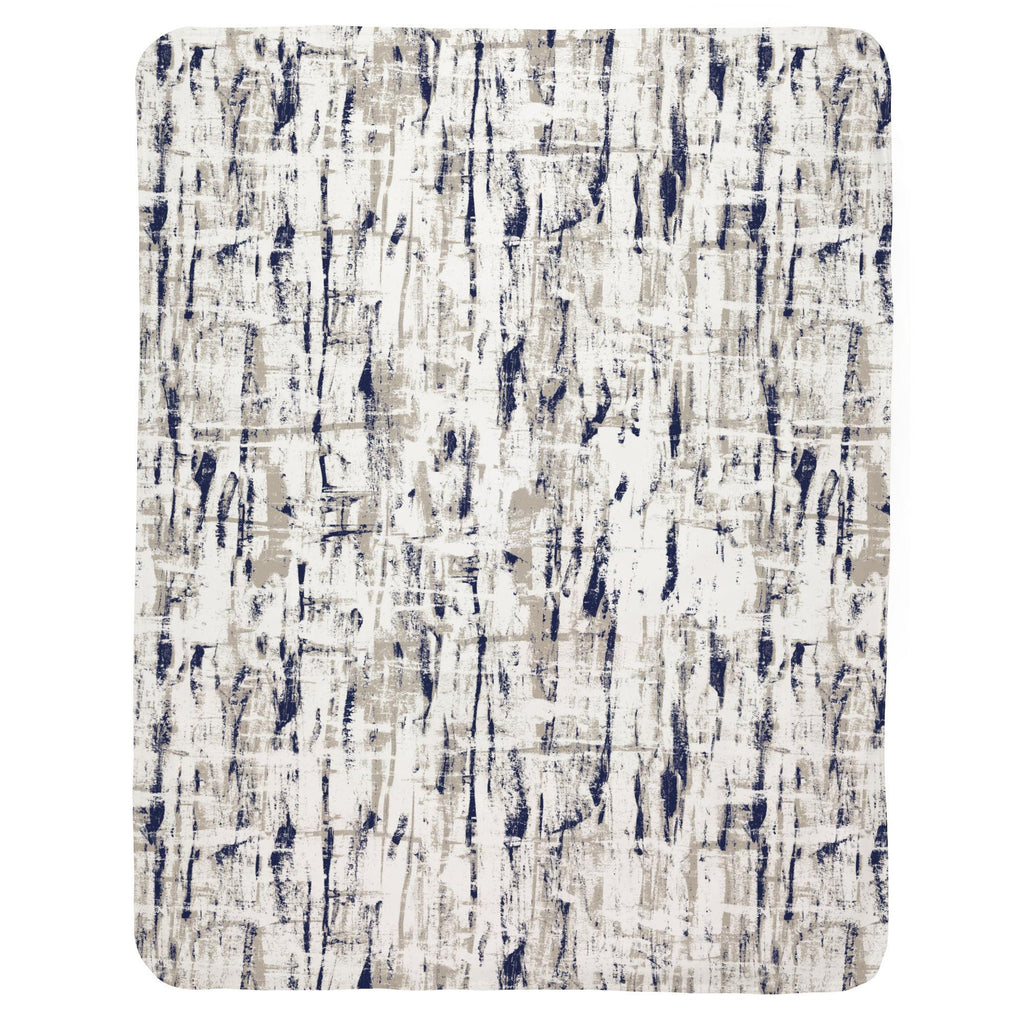 Product image for Navy and Taupe Birch Baby Blanket