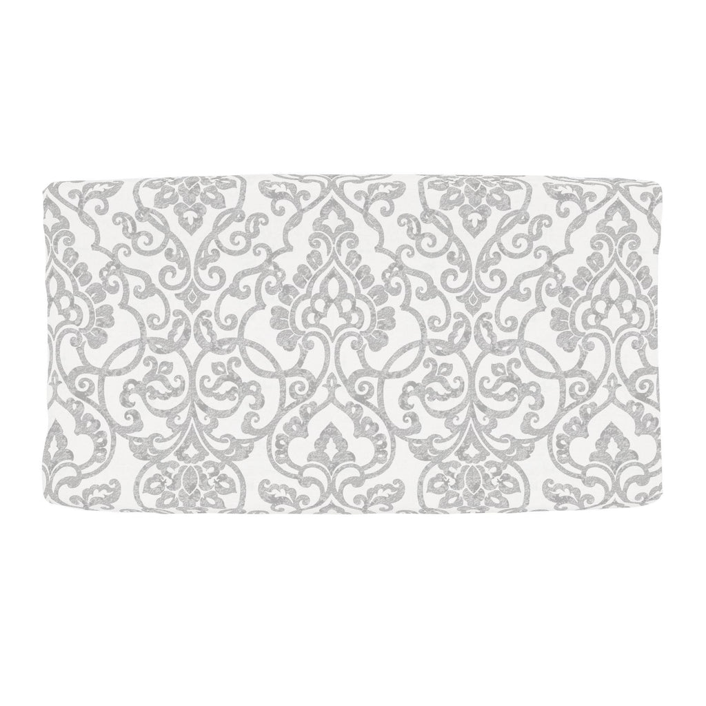 Product image for Gray Filigree Changing Pad Cover