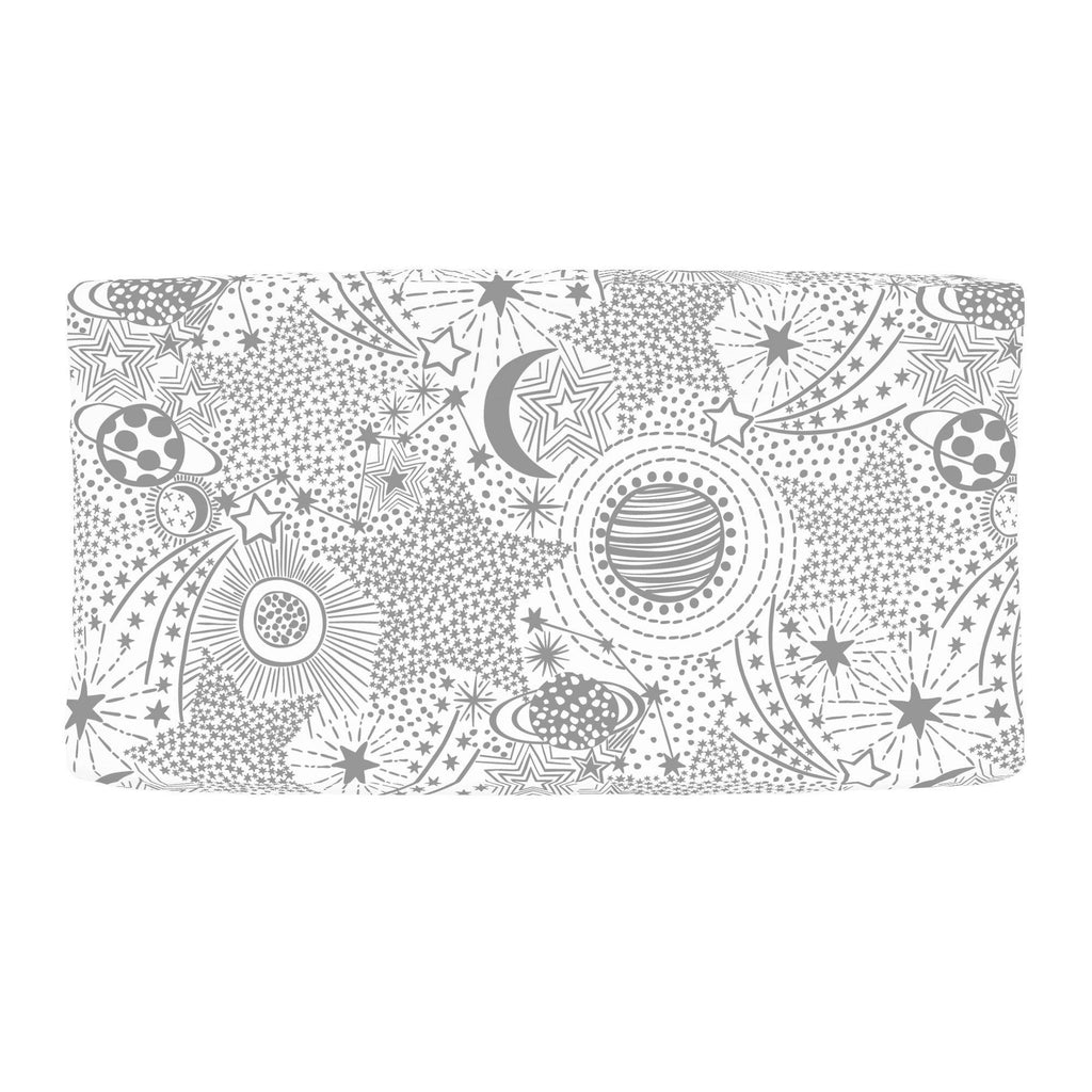 Product image for Cloud Gray Galaxy Changing Pad Cover