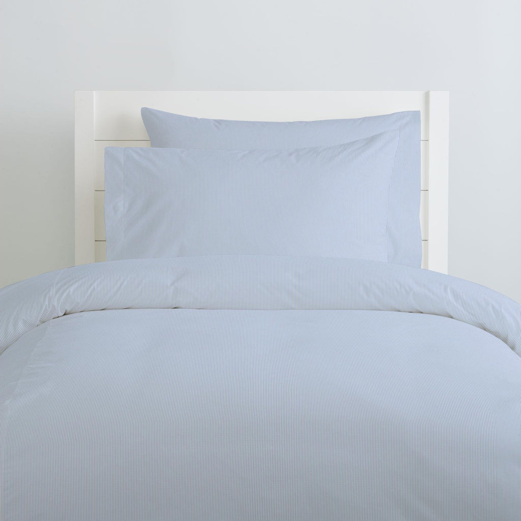 Product image for Blue Mini-Stripe Pillow Case