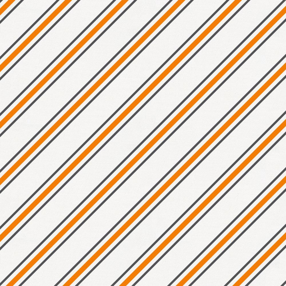 Product image for Gray and Orange Necktie Stripe Accent Pillow