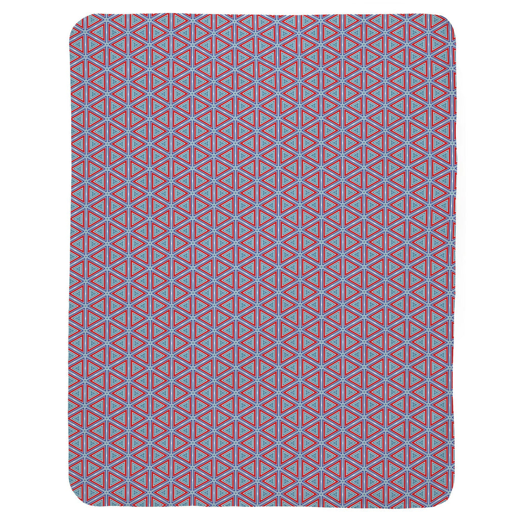 Product image for Red Nautical Triangles Baby Blanket