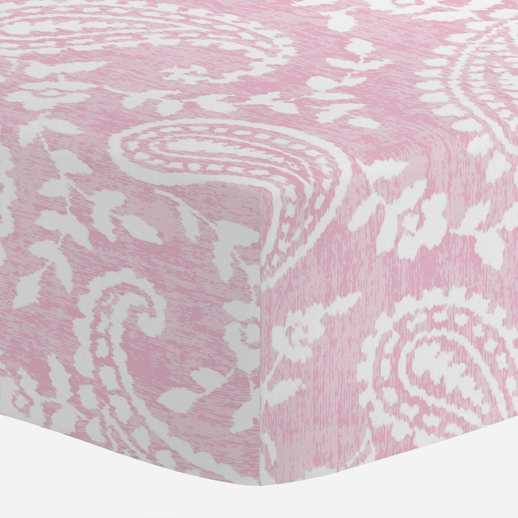 Product image for Pink Paisley Mini Crib Sheet
