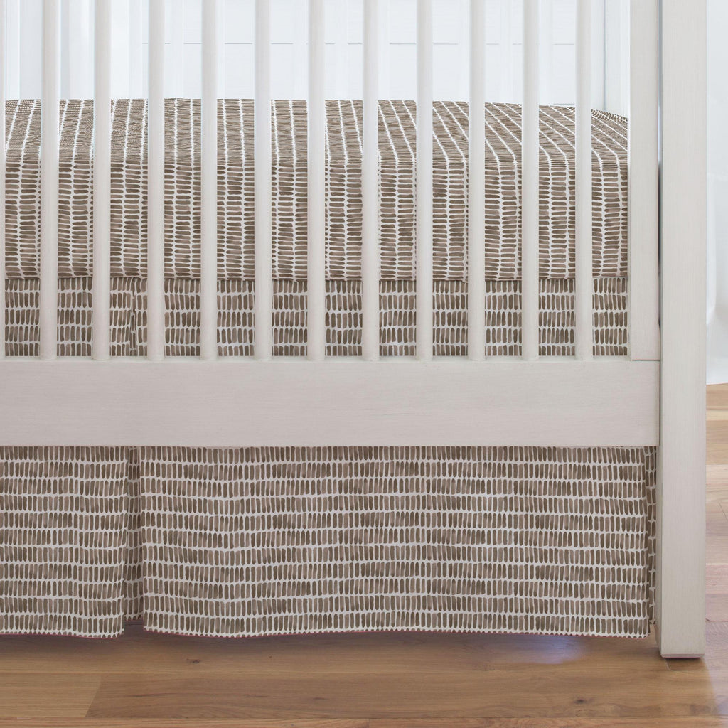 Product image for Mocha Forest Sticks Crib Skirt Single-Pleat
