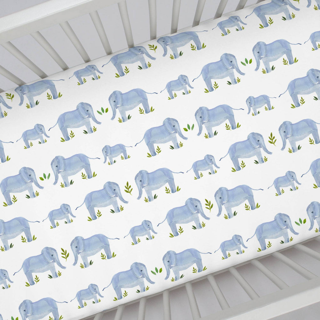 Product image for Painted Elephants Crib Sheet