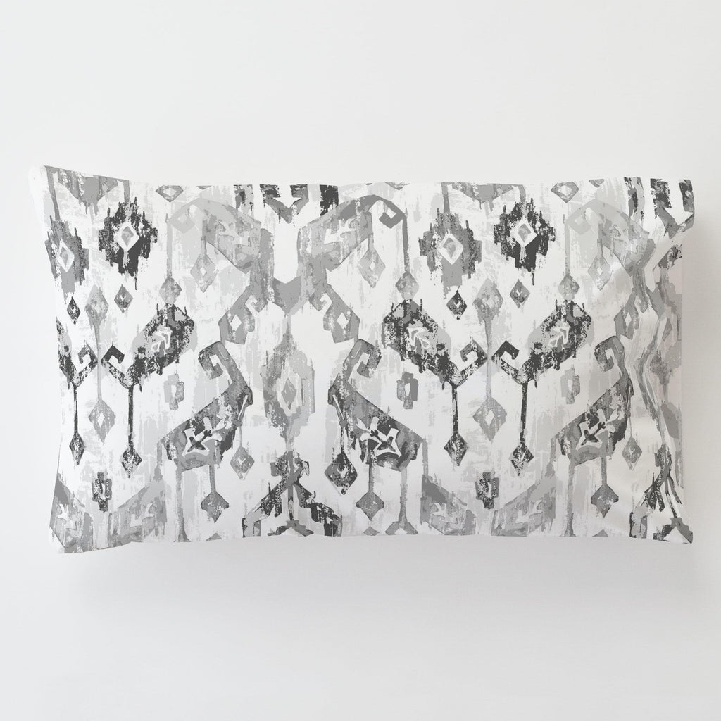 Product image for Gray Tribal Ikat Toddler Pillow Case