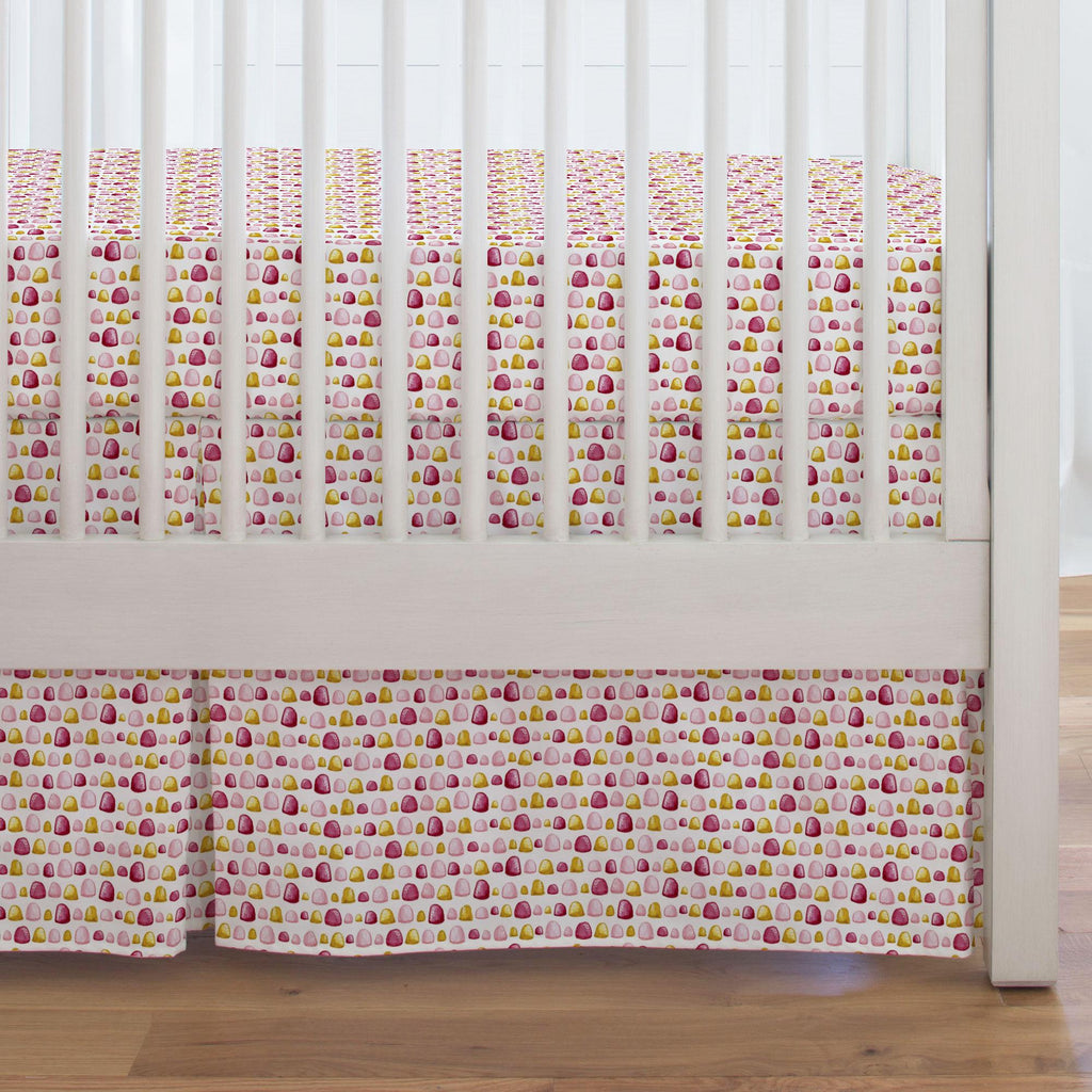 Product image for Painted Gumdrops Crib Skirt Single-Pleat