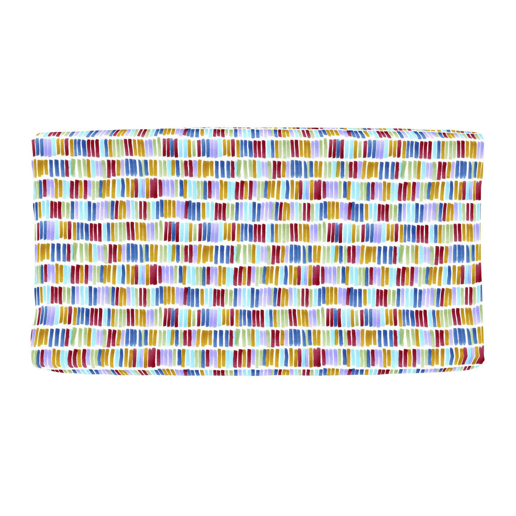 Product image for Colorful Bars Changing Pad Cover