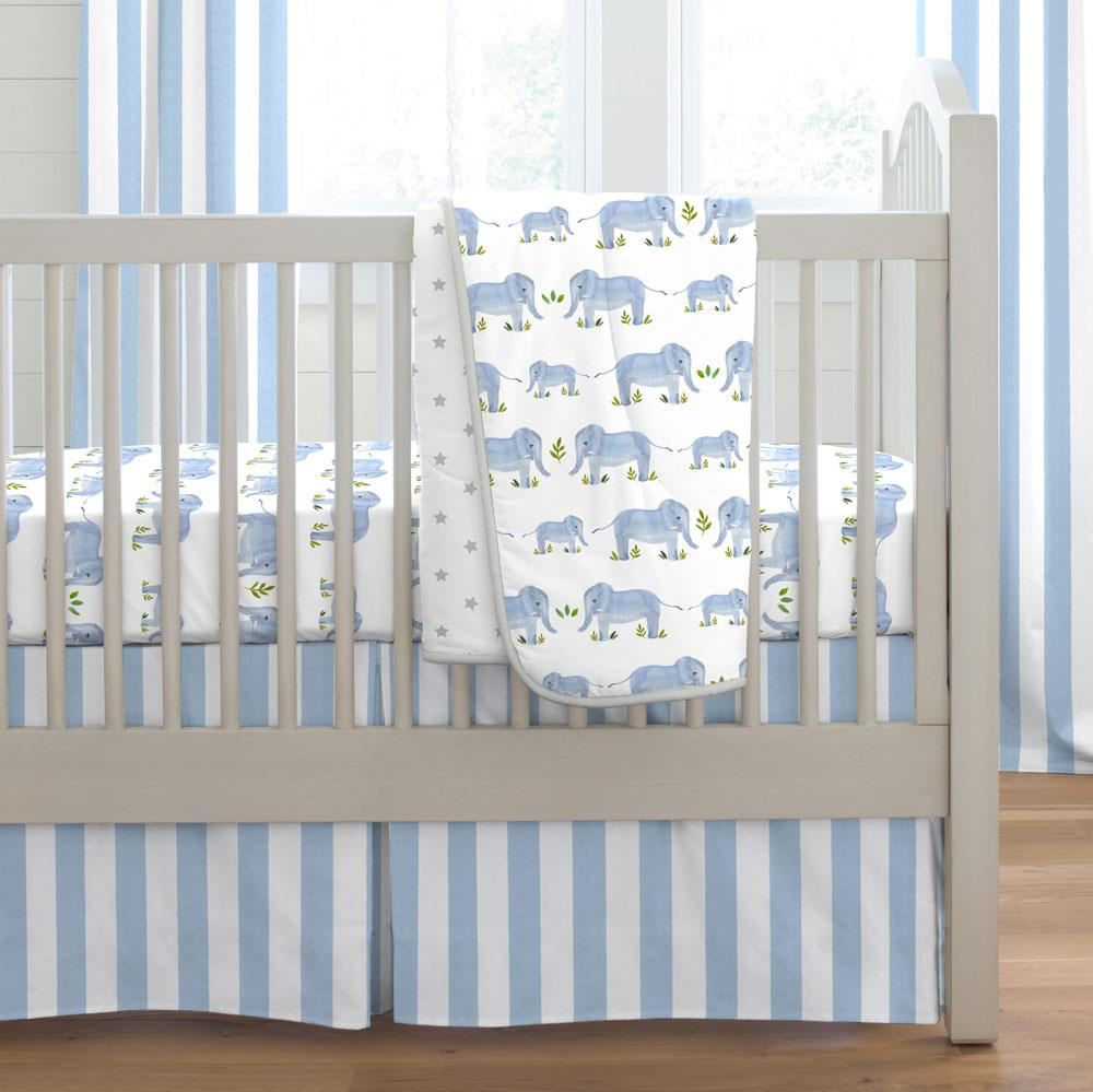Product image for Painted Elephants Crib Comforter with Piping