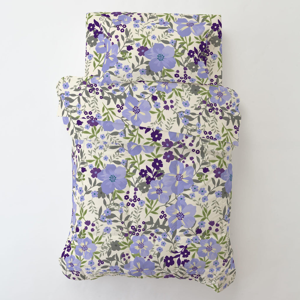 Product image for Lavender Floral Tropic Toddler Pillow Case with Pillow Insert