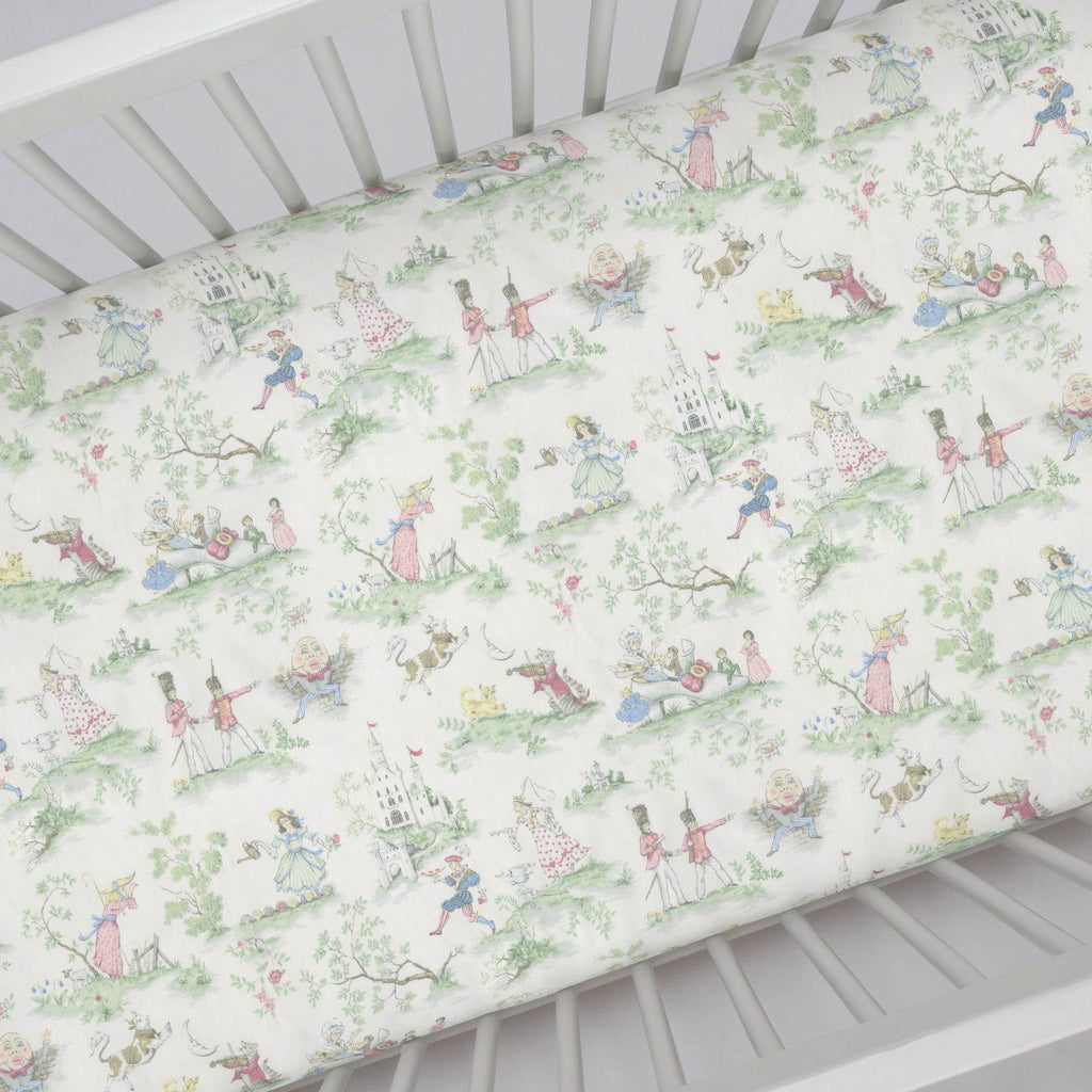Product image for Nursery Rhyme Toile Crib Sheet