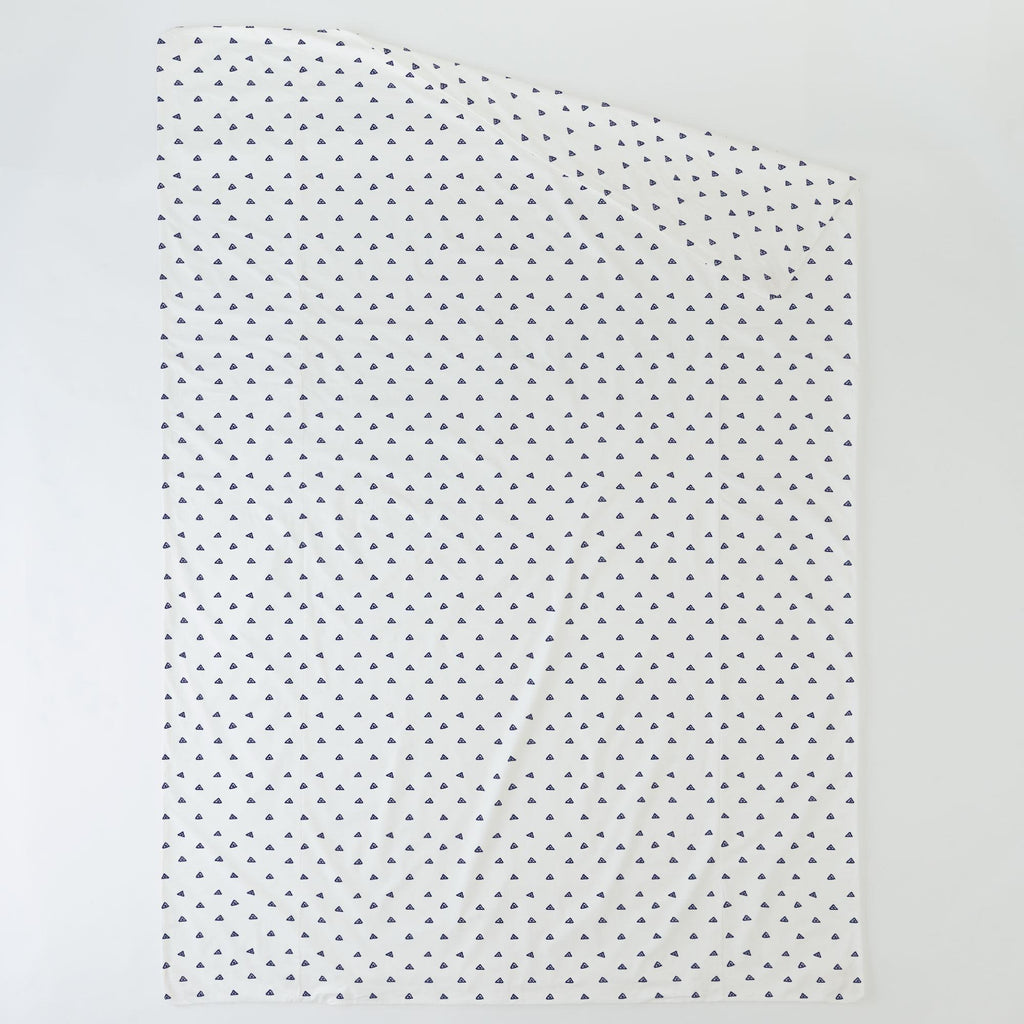 Product image for Navy Triangle Dots Duvet Cover