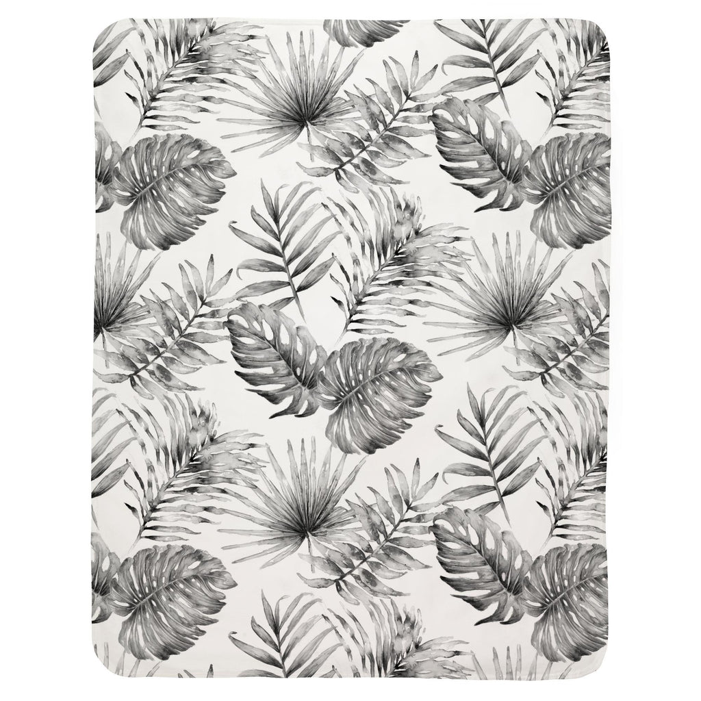 Product image for Gray Painted Tropical Baby Blanket