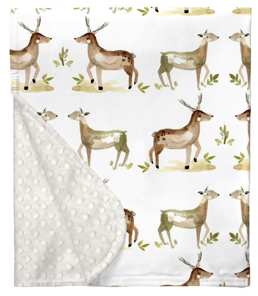 Product image for Painted Deer Baby Blanket