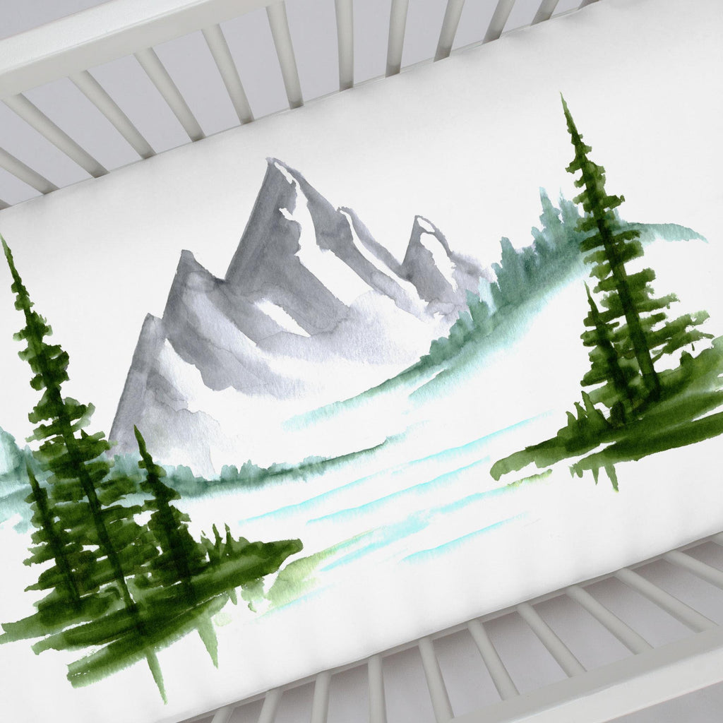 Product image for Painted Mountains Centerpiece Crib Sheet