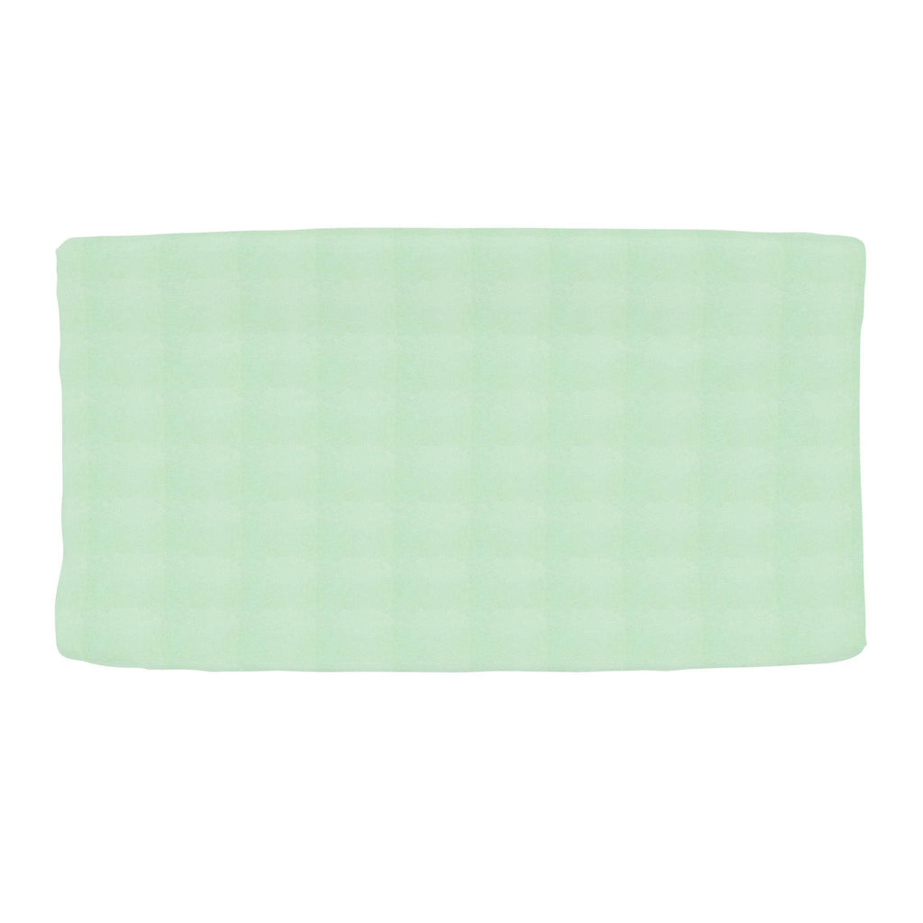 Product image for Solid Mint Minky Changing Pad Cover