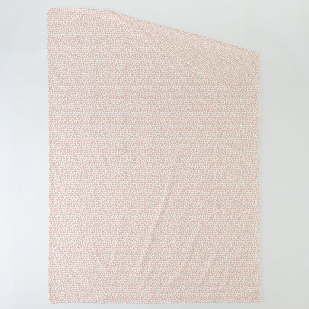Product image for Peach Woodland Leaf Duvet Cover
