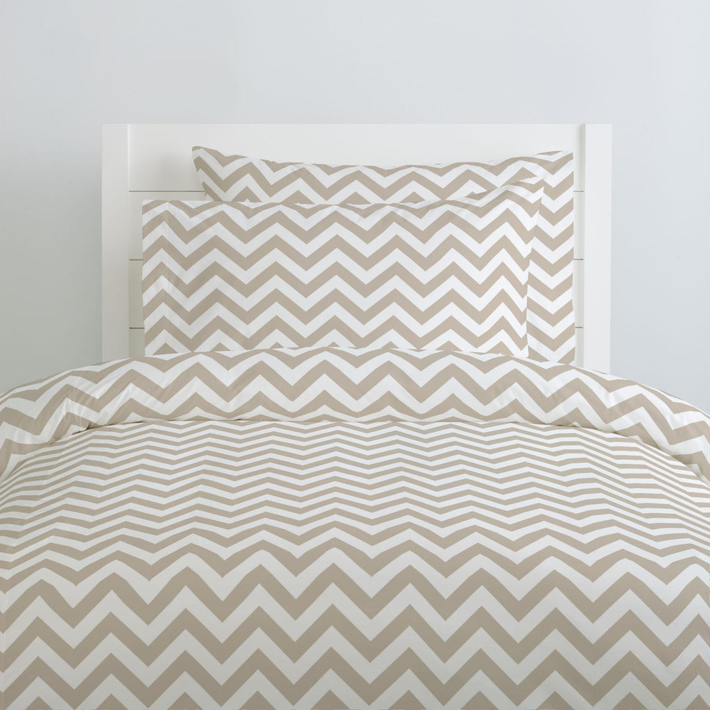 Product image for Taupe Zig Zag Pillow Case