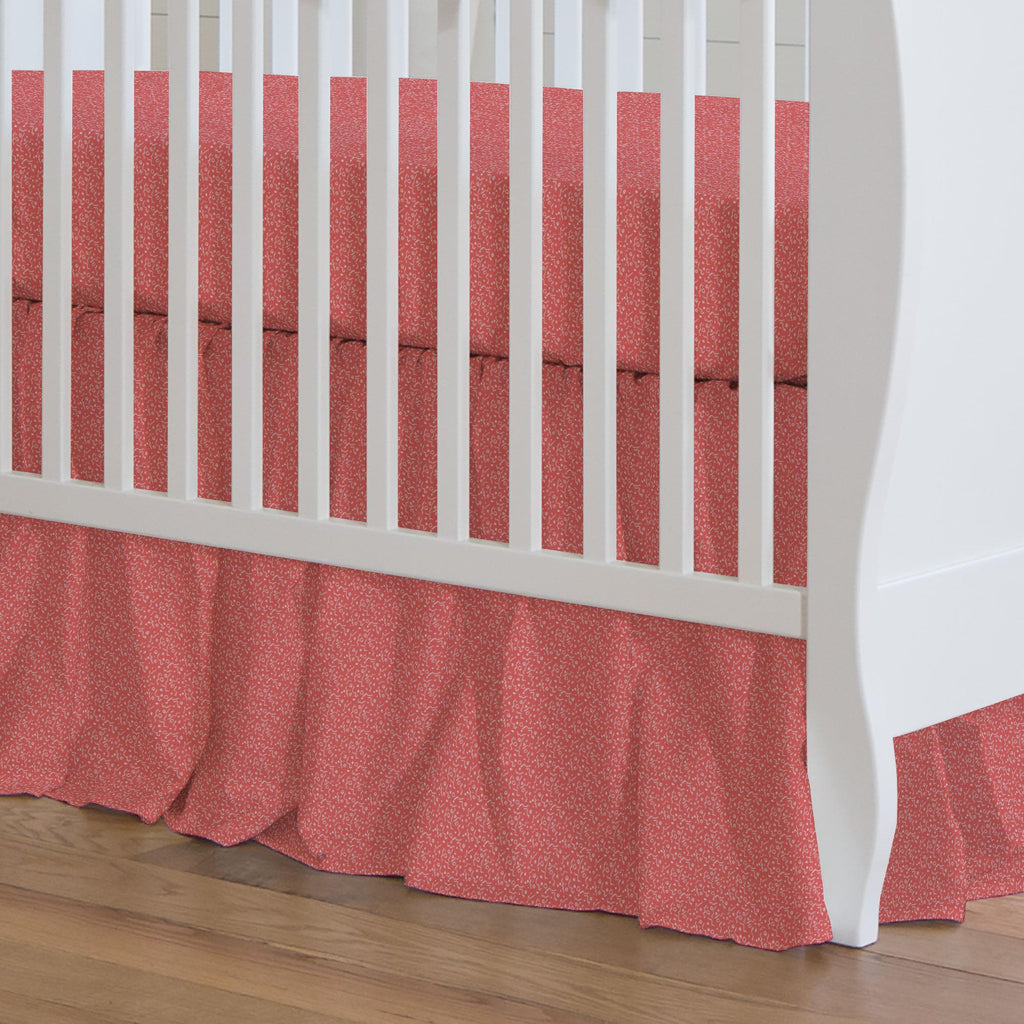 Product image for Coral Confetti Crib Skirt Gathered