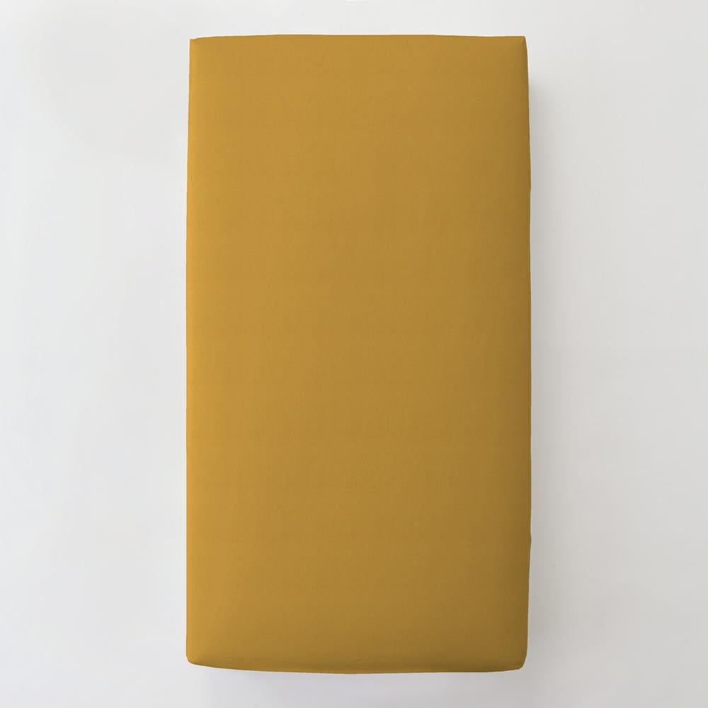 Product image for Solid Mustard Yellow Toddler Sheet Bottom Fitted