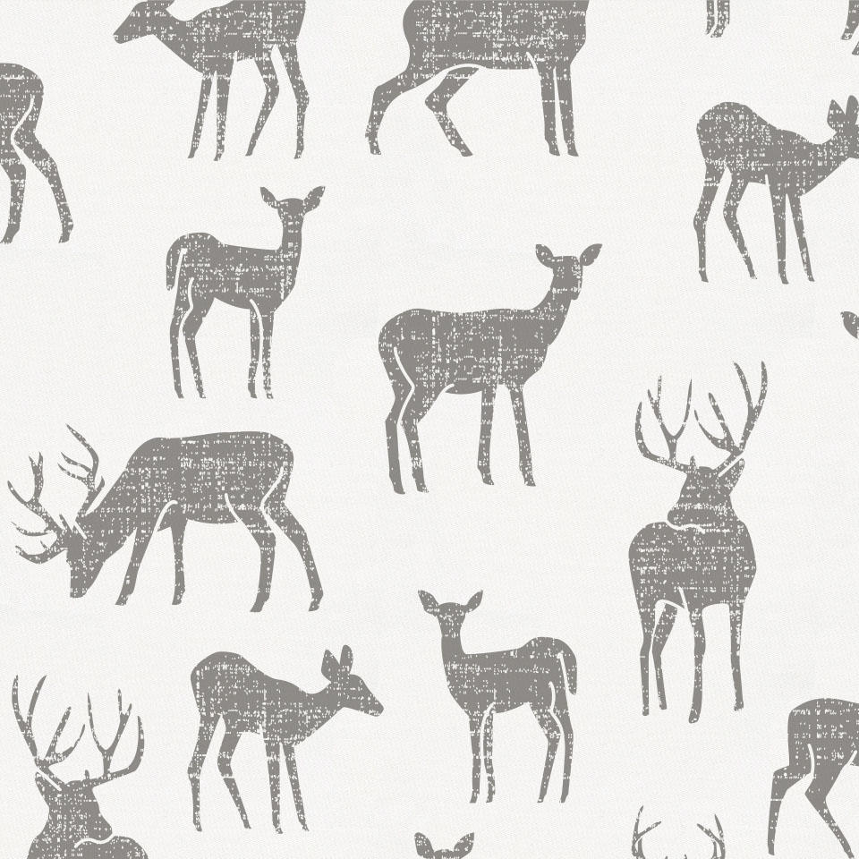 Product image for Cloud Gray Deer Pillow Sham