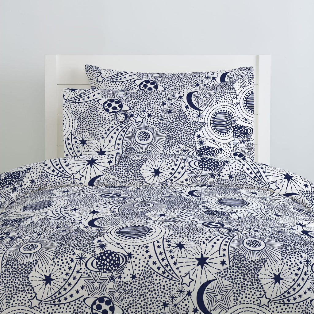 Product image for Navy Galaxy Pillow Case