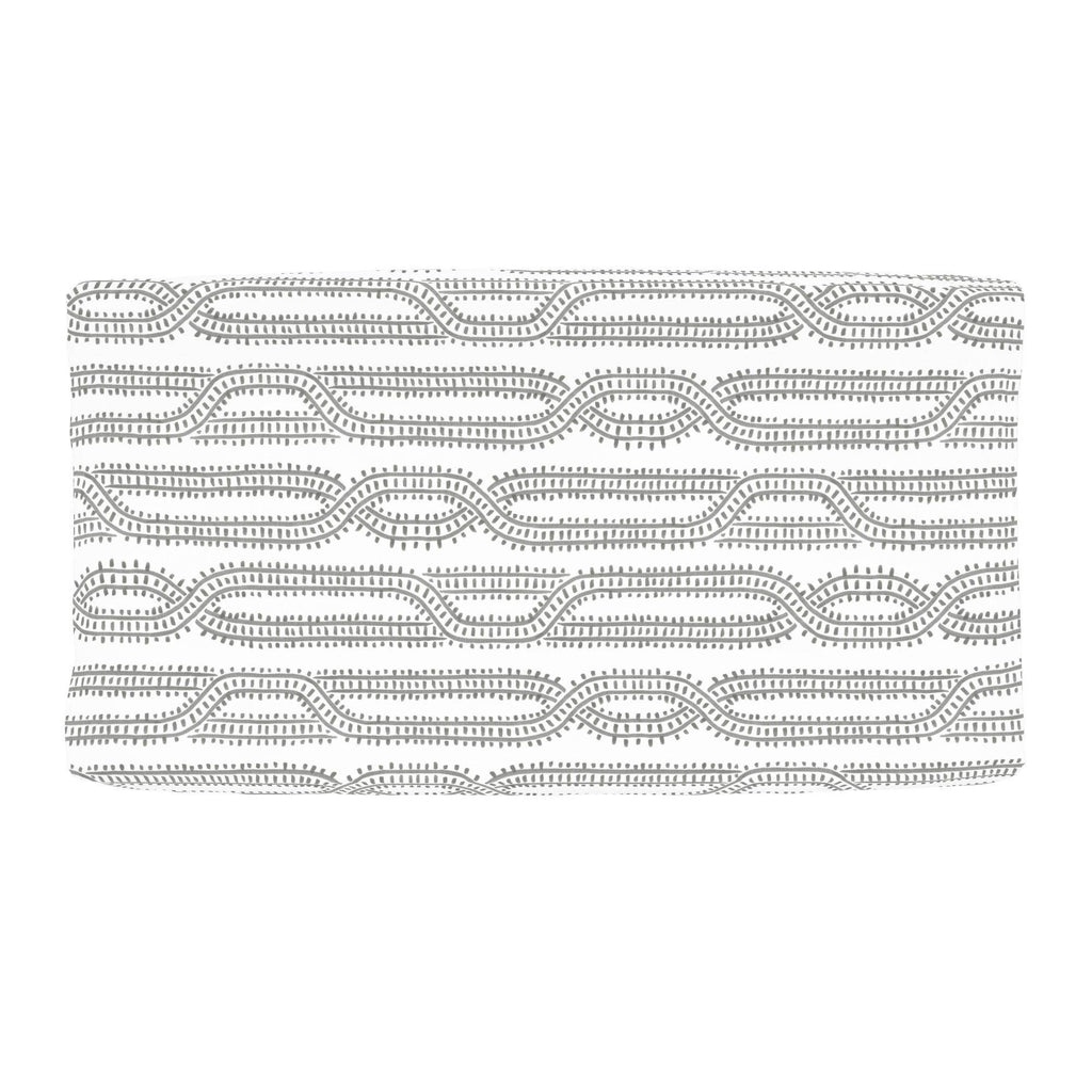 Product image for Gray Train Tracks Changing Pad Cover
