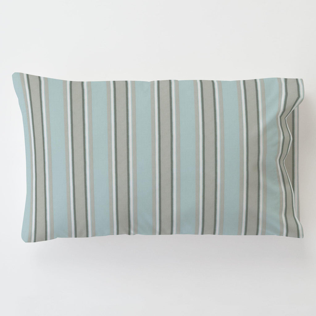 Product image for Mist and Gray Stripe Toddler Pillow Case